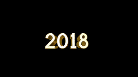 Year 2018 a HD Stock Video Footage