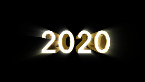 Year 2020 a HD Stock Video Footage