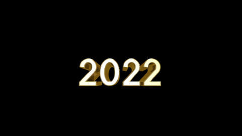 Year 2022 a HD Stock Video Footage
