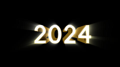 Year 2024 a HD Stock Video Footage