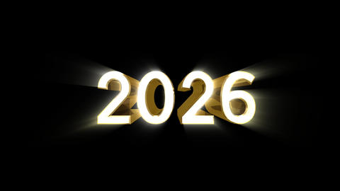 Year 2026 a HD Stock Video Footage