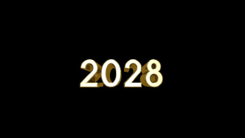 Year 2028 a HD Stock Video Footage