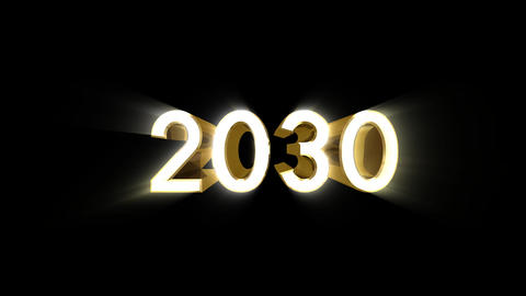 Year 2030 a Stock Video Footage