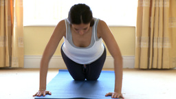 Athletic woman doing pushups Footage