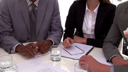Successful business people closing a deal Stock Video Footage