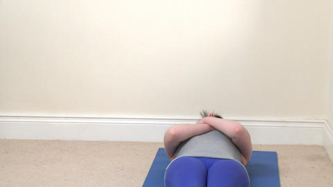 Athletic young woman doing situps Footage