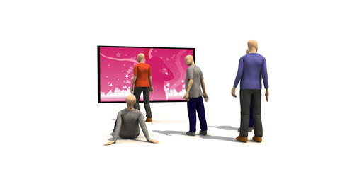 3D men presenting dancing concept Animation