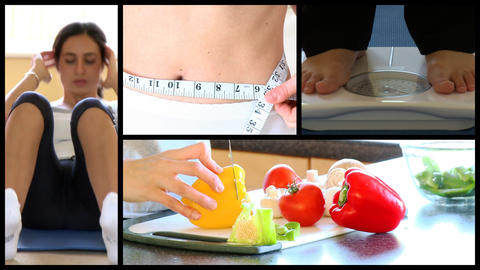 Stock animation showing the concept of diet Stock Video Footage
