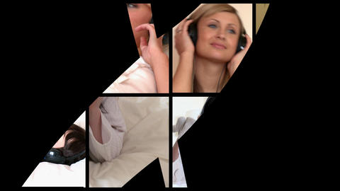 Stock animation of relaxed women listening music Animation