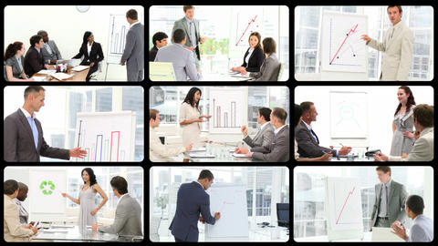 Ambitious business people at a presentation Footage