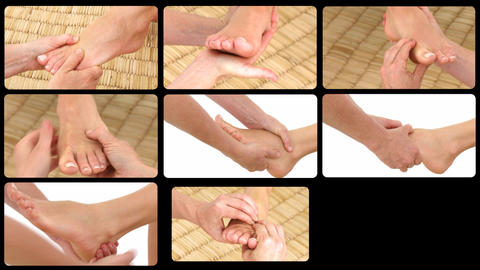 Animation presenting deemphasizing foot massages Footage