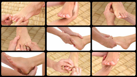 Animation presenting deemphasizing foot massages Stock Video Footage