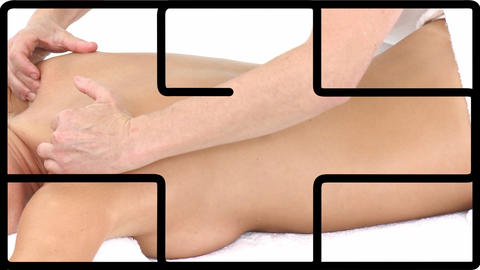Montage of a woman having spa treatments Animation