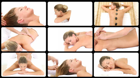 Montage presenting healthy spa treatments Animation