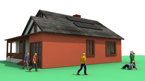 3D animation showing the concept of solar energy Animation