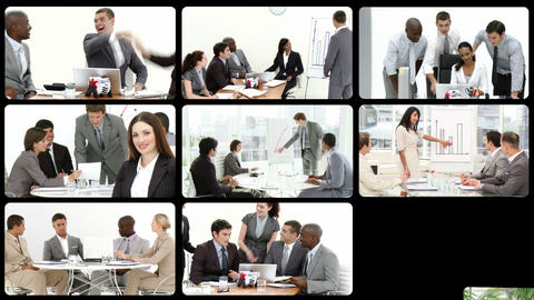 Stock animation of presenting the concept of business team Animation