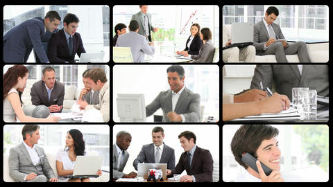 Montage presenting the concept of men in busines Stock Video Footage