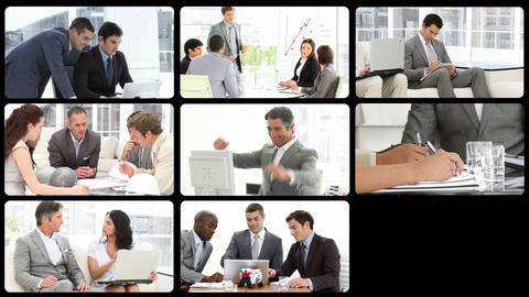 Montage presenting men in business Animation