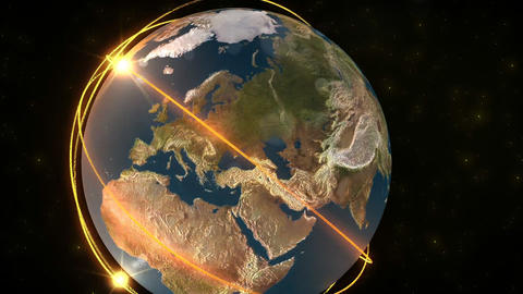 3D animation presenting the earth Stock Video Footage