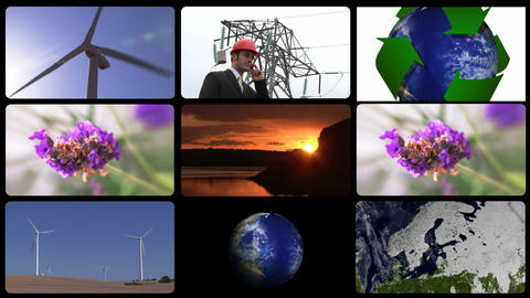Animation showing the concept of green technology Stock Video Footage