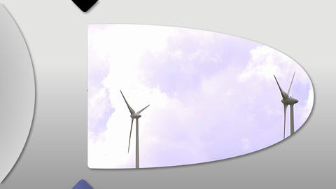 Montage presenting the concept of wind energy Stock Video Footage