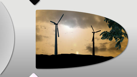 Montage presenting the concept of wind energy Animation