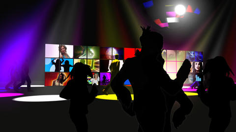 Dance performers in a night club Animation