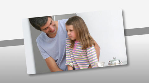 Montage presenting caring father having fun with h Stock Video Footage