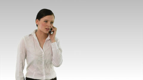 Woman on phone Stock Video Footage