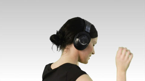 Woman dancing to music Footage