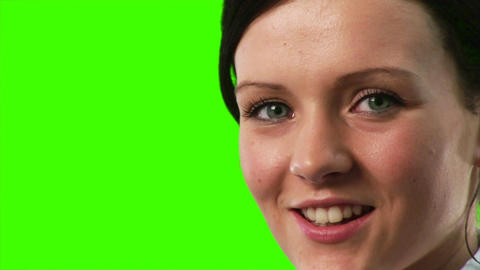 Green Screen Footage of a Businesswoman Stock Video Footage