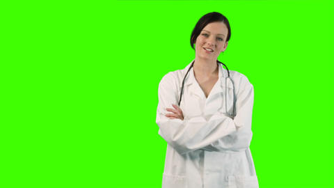 Chroma Key Footage of Young Doctor Footage