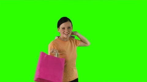 ChromaKey woman shopping Footage