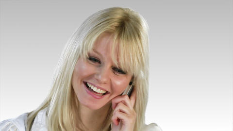 Caucasian Blonde woman Stock Video Footage
