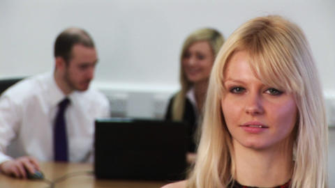 Woman leading Business Team Footage