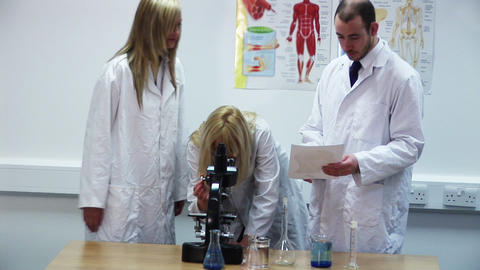 Researching in a lab Footage