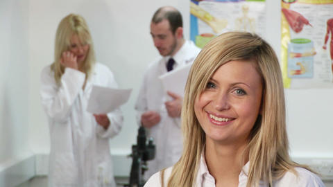 A group of researchers in a laboratory Stock Video Footage