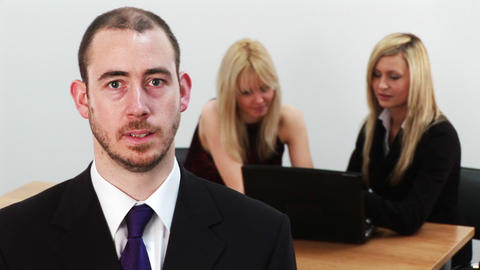 Young Business Team at work 2 Stock Video Footage