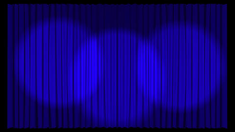 Animated Stage Curtains stock footage