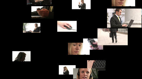 Montage of Business people Stock Video Footage