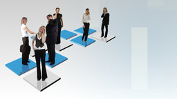Abstract Business team Footage Animation