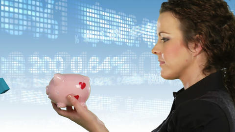 Saving money Stock Video Footage