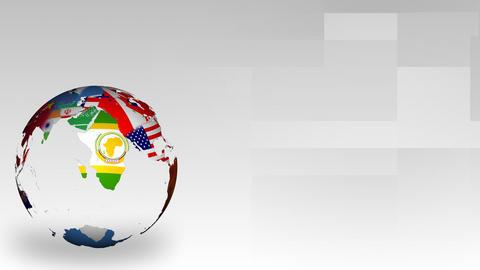 Globe Of World Maps stock footage