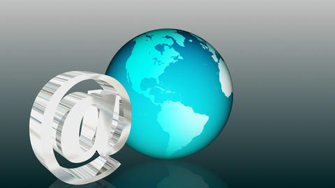 Email Global Communication Stock Video Footage