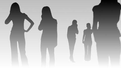 Silhouetted of Business People 6 Stock Video Footage