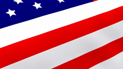 3D Rendered Flag Of The United States stock footage
