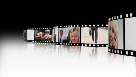 Film strip of Business people 2 Stock Video Footage