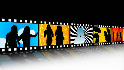 Entertainment Movie Film Strip stock footage