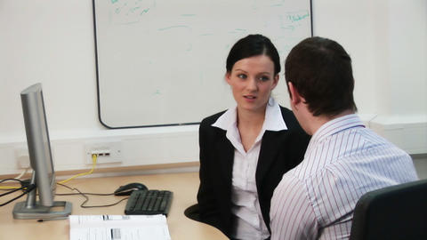 Careers Issues in Business Stock Video Footage