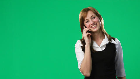 Green Screen Footage of a woman on the phone Footage